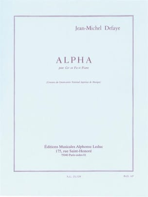 Jean-Michel Defaye - Alpha - Sheet Music - di-arezzo.co.uk