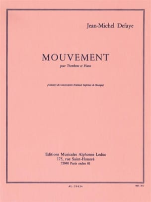 Jean-Michel Defaye - Mouvement - Partition - di-arezzo.fr