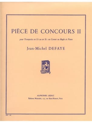 Jean-Michel Defaye - Competition Room 2 - Sheet Music - di-arezzo.co.uk