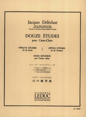 Jacques Delécluse - 12 Studies - Sheet Music - di-arezzo.com