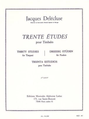 Jacques Delécluse - 30 Studies Volume 2 - Sheet Music - di-arezzo.co.uk
