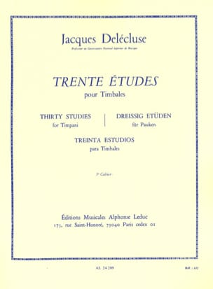 Jacques Delécluse - 30 Studi Volume 3 - Partitura - di-arezzo.it