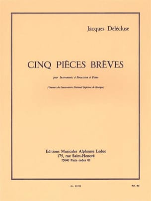 Jacques Delécluse - 5 short pieces - Sheet Music - di-arezzo.com