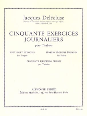 Jacques Delécluse - 50 Daily Exercises - Sheet Music - di-arezzo.co.uk