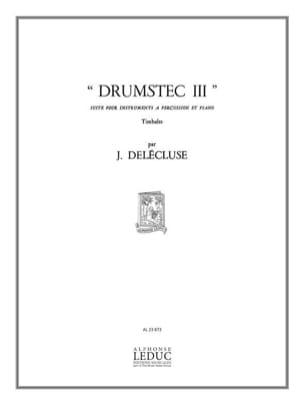 Drumstec N° 3 - Jacques Delécluse - Partition - laflutedepan.com