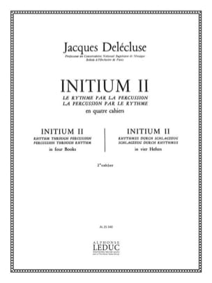 Jacques Delécluse - Initium 2 - Sheet Music - di-arezzo.co.uk