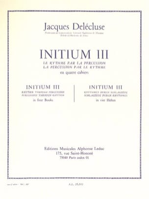 Jacques Delécluse - Initium 3 - Sheet Music - di-arezzo.co.uk