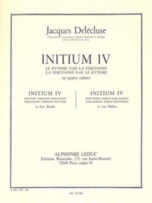 Jacques Delécluse - Initium 4 - Sheet Music - di-arezzo.co.uk