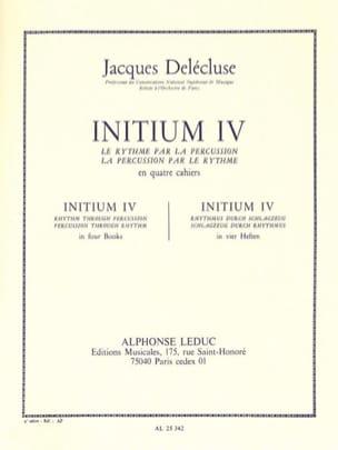 Jacques Delécluse - Initium 4 - Partition - di-arezzo.fr