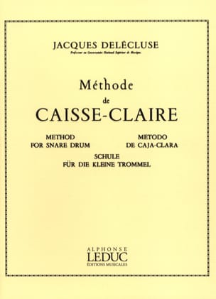 Jacques Delécluse - Crate-Claire Method - Sheet Music - di-arezzo.co.uk