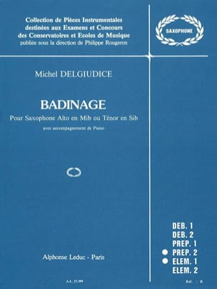 Badinage - Michel Del Giudice - Partition - laflutedepan.com