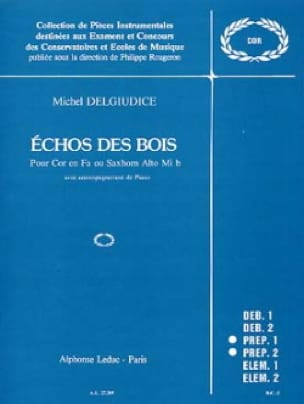Echo Des Bois - Giudice Michel Del - Partition - laflutedepan.com