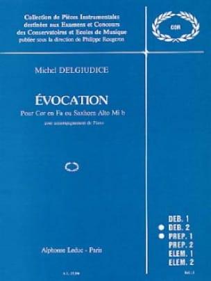 Michel Del Giudice - Evocation - Partition - di-arezzo.com