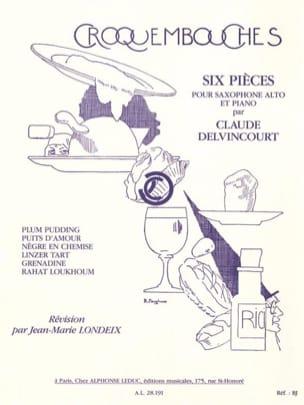 Croquembouches Claude Delvincourt Partition Saxophone - laflutedepan