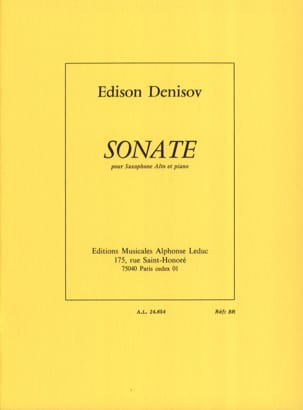 Edison Denisov - Sonata - Sheet Music - di-arezzo.co.uk