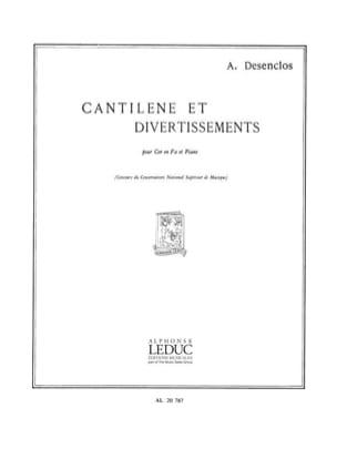 Cantilene Et Divertissements Alfred Desenclos Partition laflutedepan