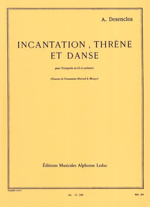 Alfred Desenclos - Threne Incantation And Dance - Sheet Music - di-arezzo.co.uk