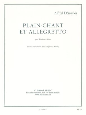 Plain-Chant et Allegretto Alfred Désenclos Partition laflutedepan