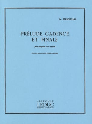 Alfred Desenclos - Prelude Cadence And Finale - Sheet Music - di-arezzo.co.uk
