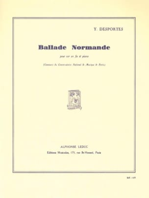 Yvonne Desportes - Norman Ballad - Sheet Music - di-arezzo.co.uk