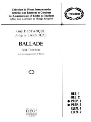 Ballade Destanque Guy / Larguèze Jacques Partition laflutedepan
