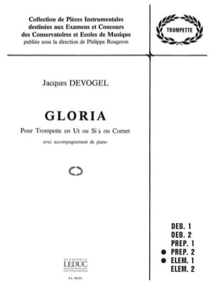 Gloria - Jacques Devogel - Partition - Trompette - laflutedepan.com