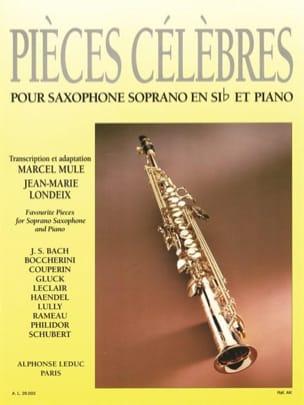 Pièces Célèbres Partition Saxophone - laflutedepan