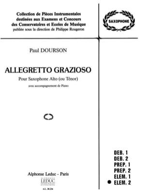 Dourson - Allegretto Grazioso - Partition - di-arezzo.fr