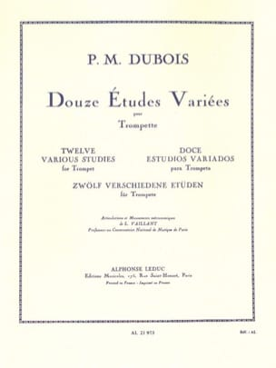 Pierre-Max Dubois - 12 Various Studies - Sheet Music - di-arezzo.co.uk