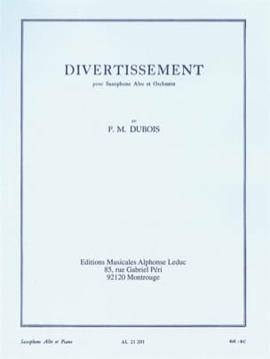 Divertissement - Pierre-Max Dubois - Partition - laflutedepan.com