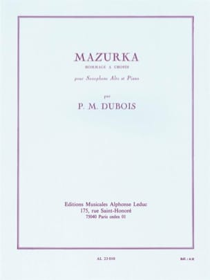 Pierre-Max Dubois - Mazurka - Sheet Music - di-arezzo.co.uk