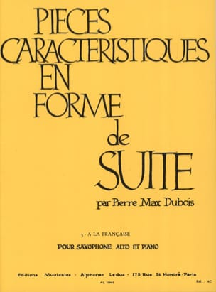 Pierre-Max Dubois - Pieces Features Volume 3 - French Style - Sheet Music - di-arezzo.com