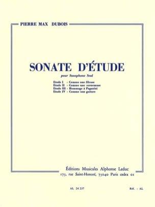 Sonate D' Etude Pierre-Max Dubois Partition Saxophone - laflutedepan
