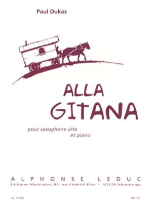 Paul Dukas - Alla Gitana - Partition - di-arezzo.fr