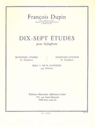 François Dupin - 17 Studies - Sheet Music - di-arezzo.co.uk