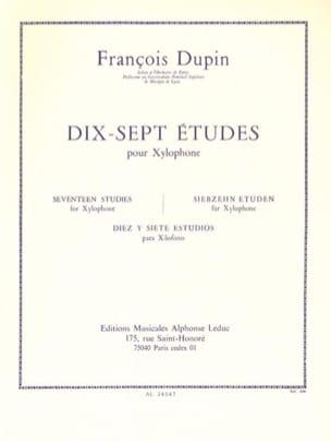 François Dupin - 17 Etudes - Partition - di-arezzo.fr