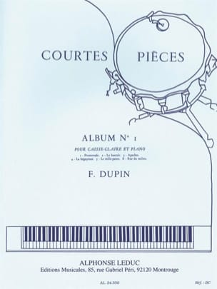 François Dupin - Short Pieces Album N ° 1 - Sheet Music - di-arezzo.co.uk