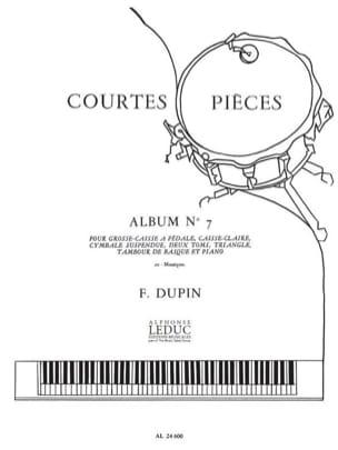 François Dupin - Short Pieces Album N ° 7 - Sheet Music - di-arezzo.com