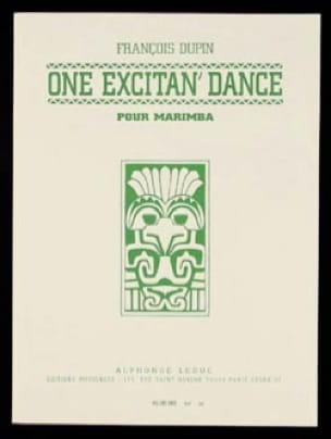 One Excitan' Dance François Dupin Partition Marimba - laflutedepan