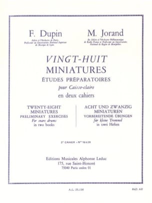 Dupin François / Jorand Marcel - 28 Miniatures - Volume 2 - Sheet Music - di-arezzo.co.uk