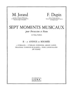 7 Moments Musicaux Volume 2 - 5e Avenue Et Bourrée - laflutedepan.com