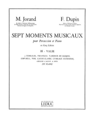 Jorand M. / Dupin F. - 7 Moments Musicaux Volume 3 - Valse - Partition - di-arezzo.fr