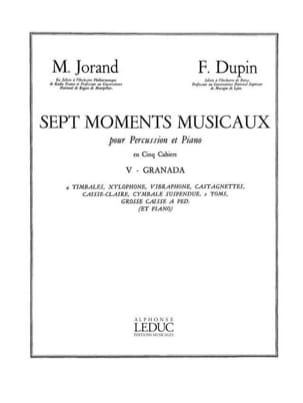 Jorand M. / Dupin F. - 7 Musical Moments Volume 5 - Granada - Sheet Music - di-arezzo.com