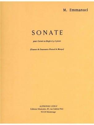 Sonate Maurice Emmanuel Partition Trompette - laflutedepan