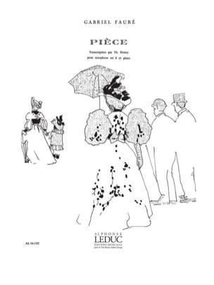 Pièce FAURÉ Partition Saxophone - laflutedepan