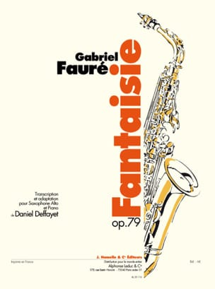 Fantaisie Opus 79 FAURÉ Partition Saxophone - laflutedepan