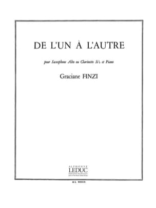 Graciane Finzi - De L'Un A L'Autre - Partition - di-arezzo.fr