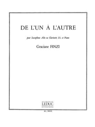 De L'Un A L'Autre - Graciane Finzi - Partition - laflutedepan.com