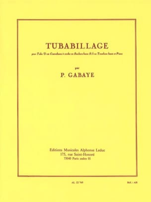 Pierre Gabaye - Tubabillage - Partition - di-arezzo.fr
