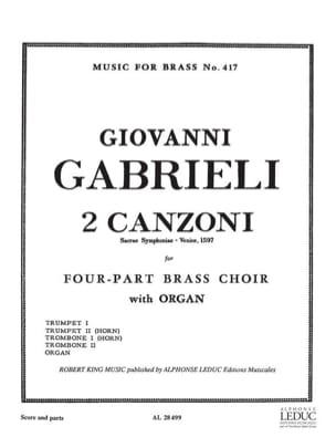 2 Canzoni Giovanni Gabrieli Partition laflutedepan
